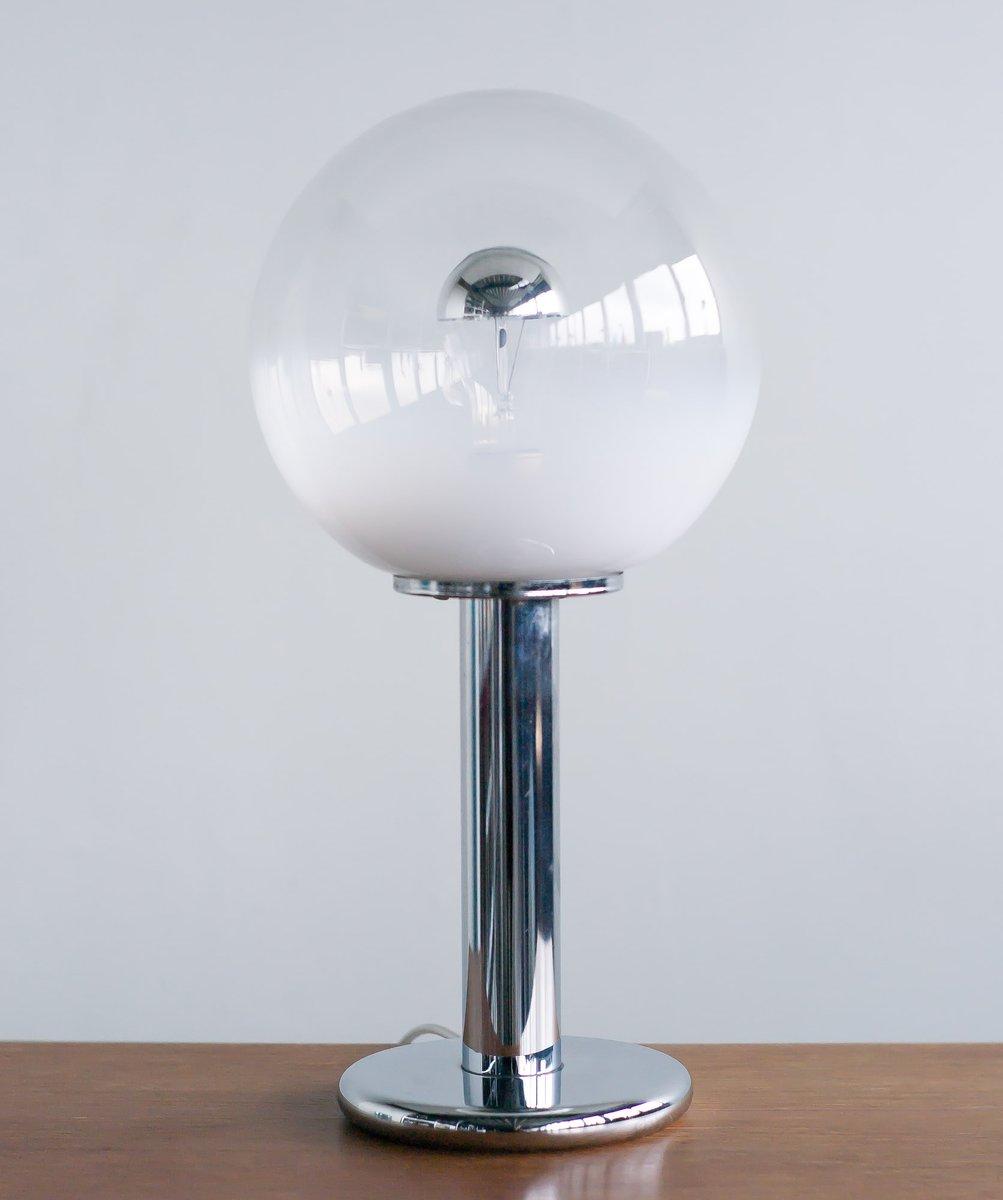 italienische tischlampe aus chrom mundgeblasenem murano glas von murano 1969 bei pamono kaufen. Black Bedroom Furniture Sets. Home Design Ideas