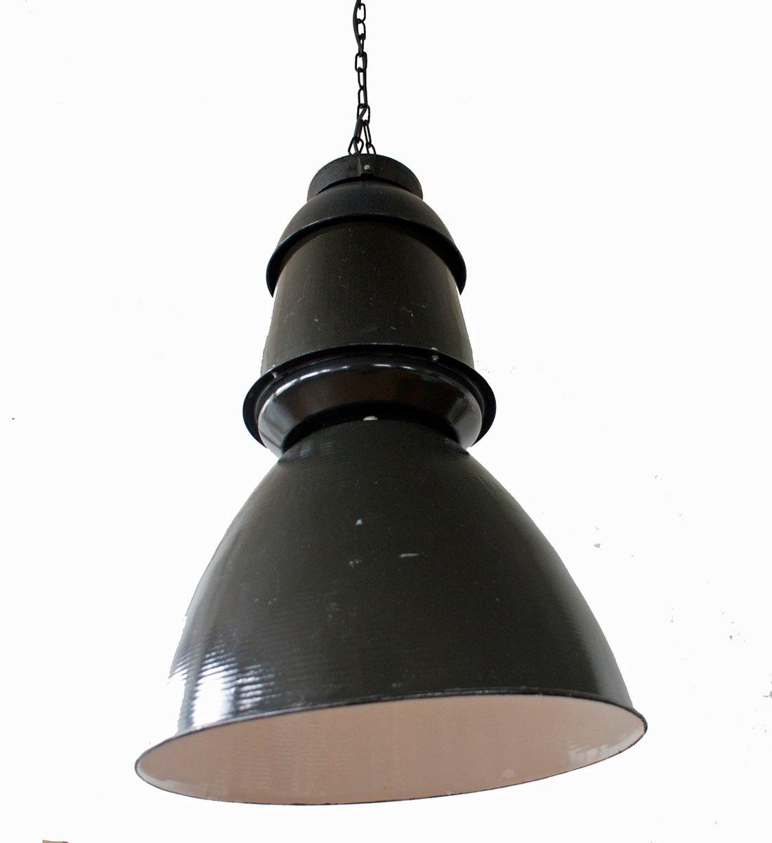 Large black industrial pendant lamp 1950s for sale at pamono large black industrial pendant lamp 1950s mozeypictures Images