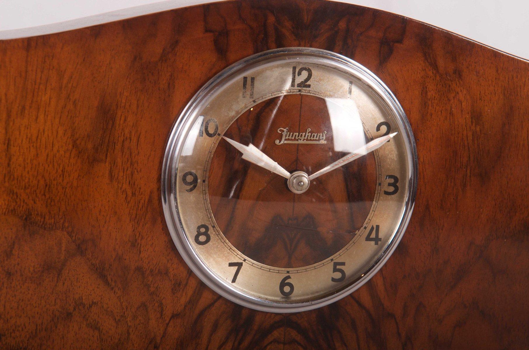 horloge de chemin e art d co par junghans 1930s en vente sur pamono. Black Bedroom Furniture Sets. Home Design Ideas