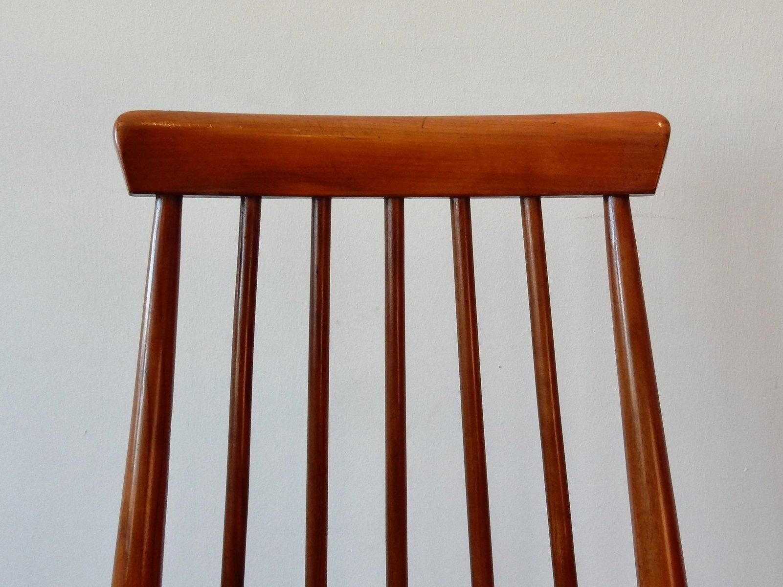 Sedie vintage in legno massiccio, set di 2 in vendita su ...