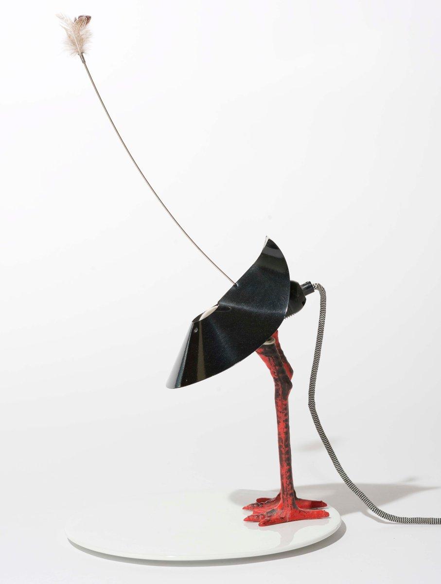 Deutsche Bibibibi Lampe aus Metall und Porzella...