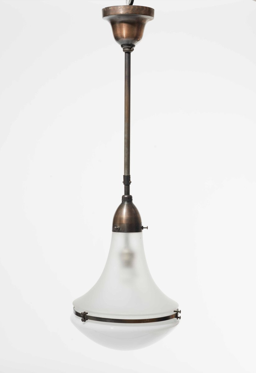 German Luzette Hanging Lamp By Peter Behrens 1910s For Sale At Pamono