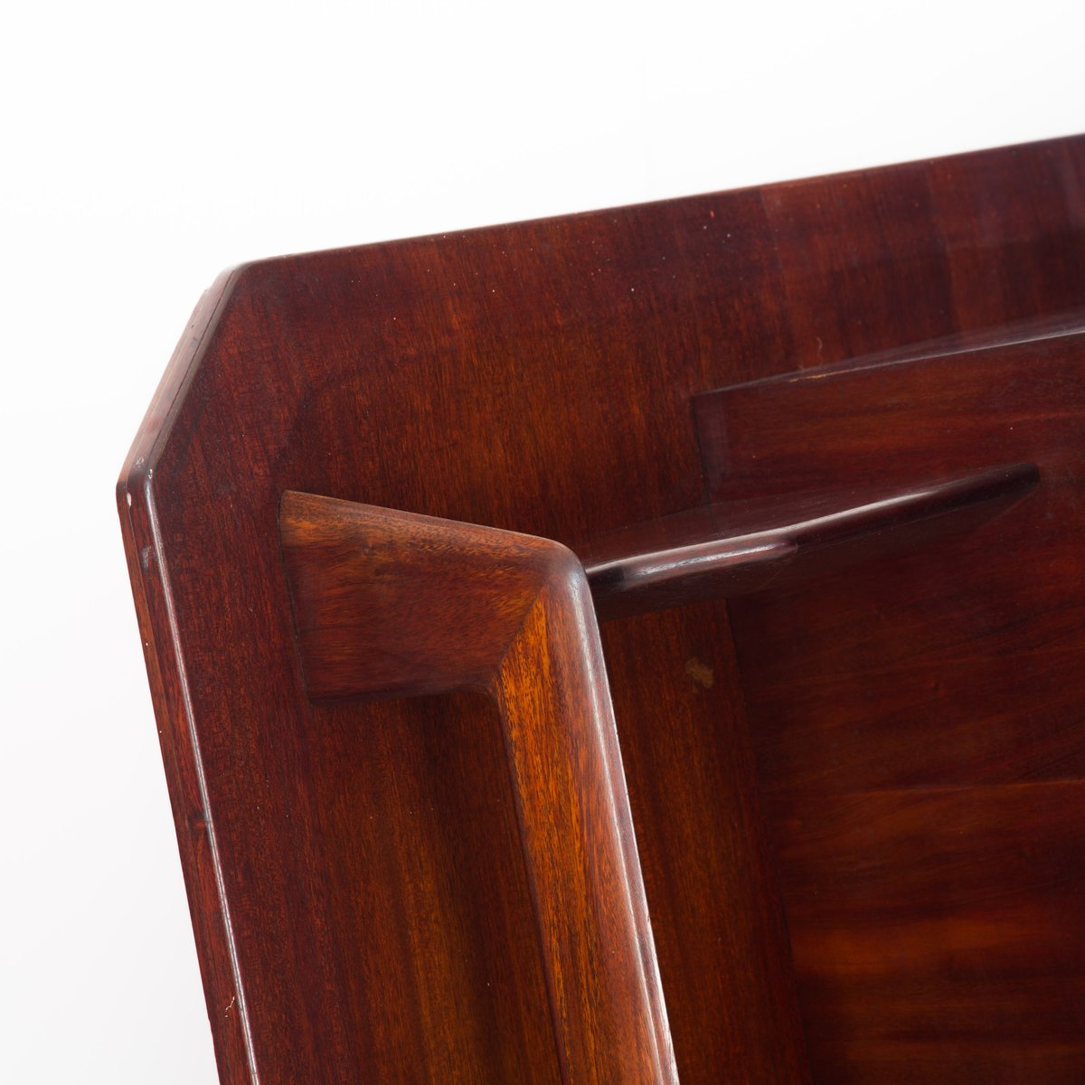 1940s Mission Style House Gets Brilliant Transformation In: Large Mahogany And Maple Wall Unit Bookcase, 1940s For