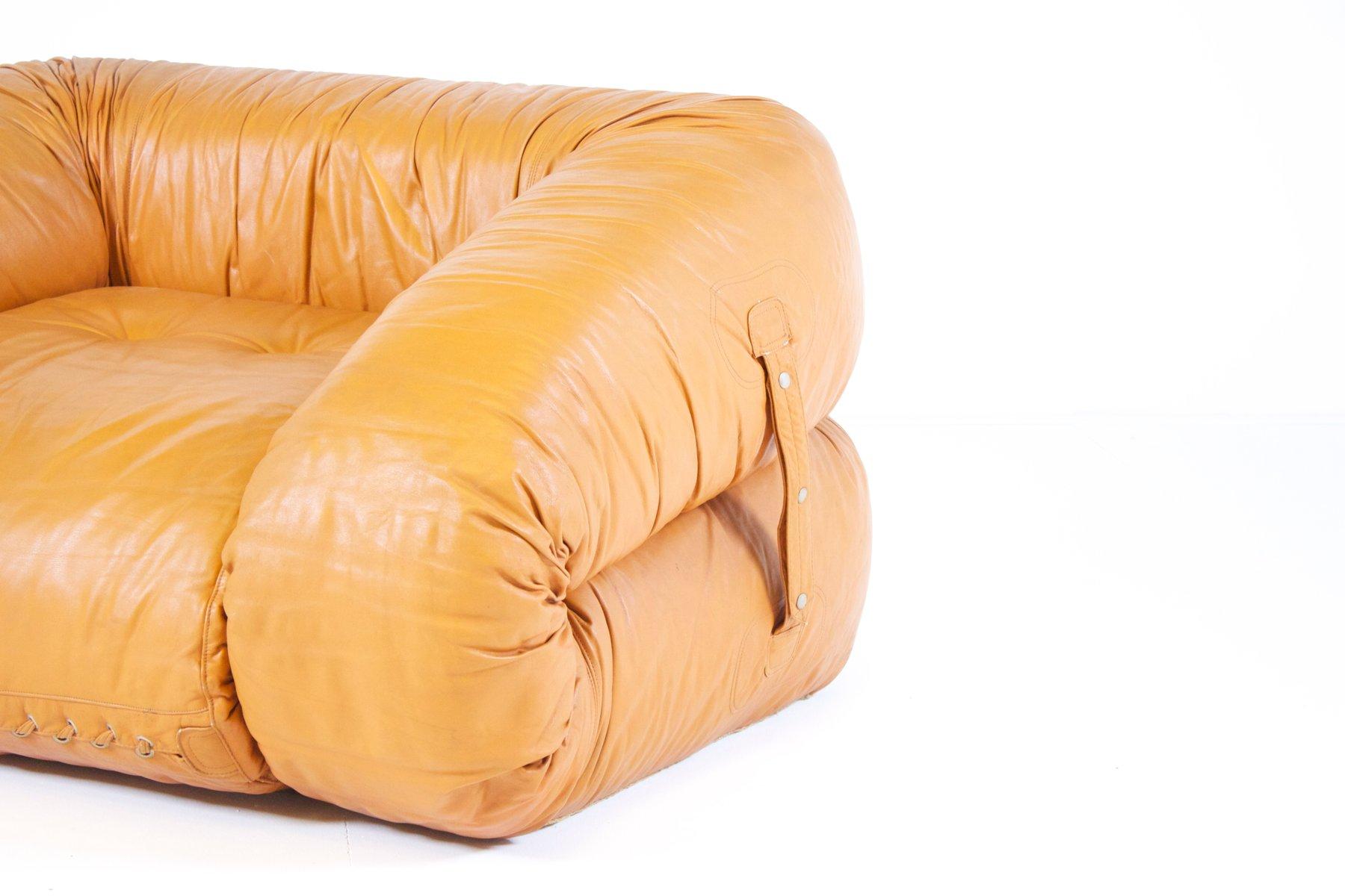 Divano letto anfibio in pelle di alessandro becchi per giovannetti italia in vendita su pamono - Divano letto in pelle ...