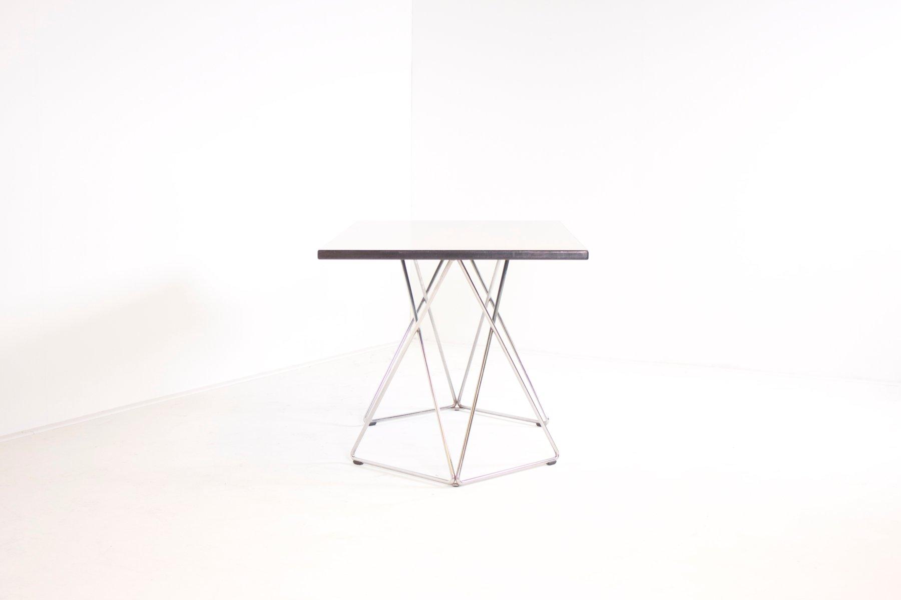 Table ou bureau graphique en formica et chrome de thonet autriche