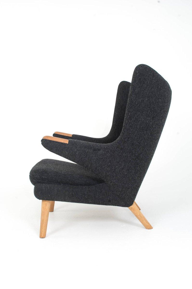 d nischer papa bear stuhl und ottoman von hans j wegner f r ap stolen 1951 bei pamono kaufen. Black Bedroom Furniture Sets. Home Design Ideas