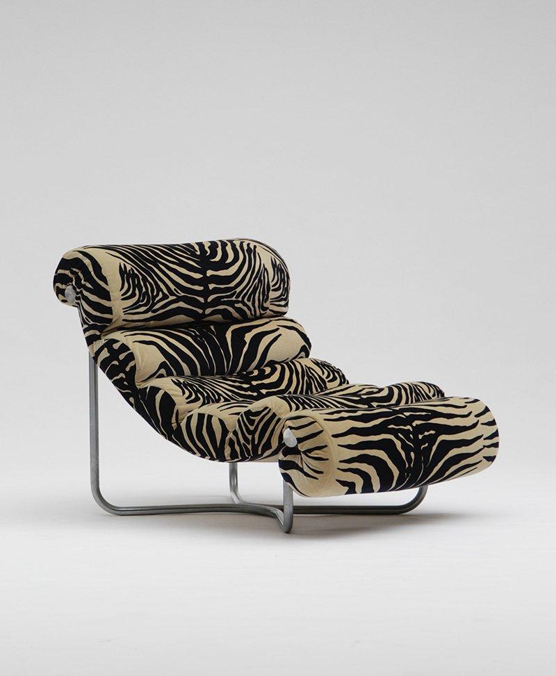 Glasgow Lounge Stuhl aus Stahl & Stoff von Georges van Rijck, 1960er