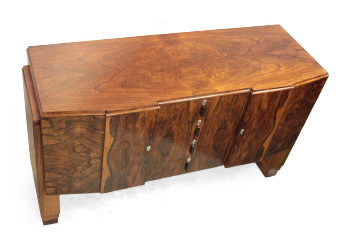 englisches art deco sideboard aus mahagoni brasilianischem palisander 1920er bei pamono kaufen. Black Bedroom Furniture Sets. Home Design Ideas