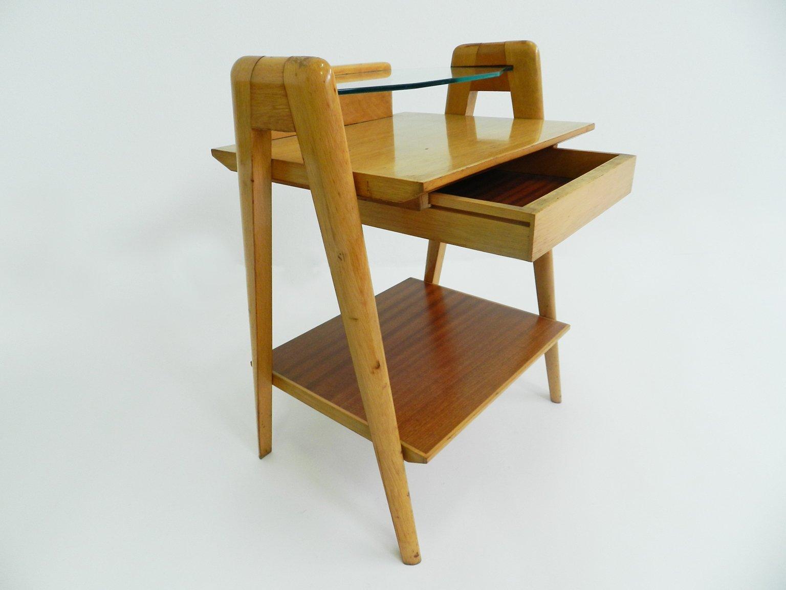 table de chevet mid century italie en vente sur pamono. Black Bedroom Furniture Sets. Home Design Ideas