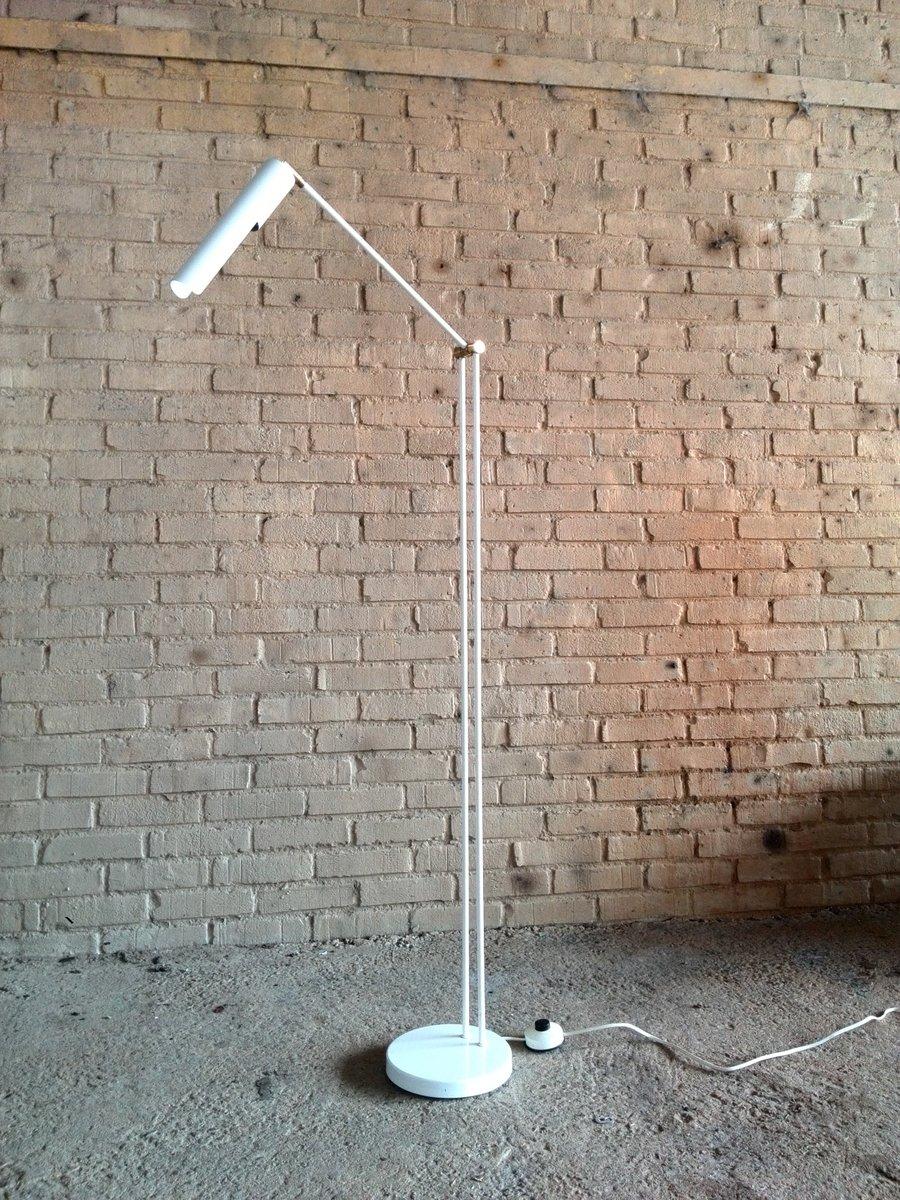 Weiße Verstellbare Stehlampe von Hala Zeist, 1970er