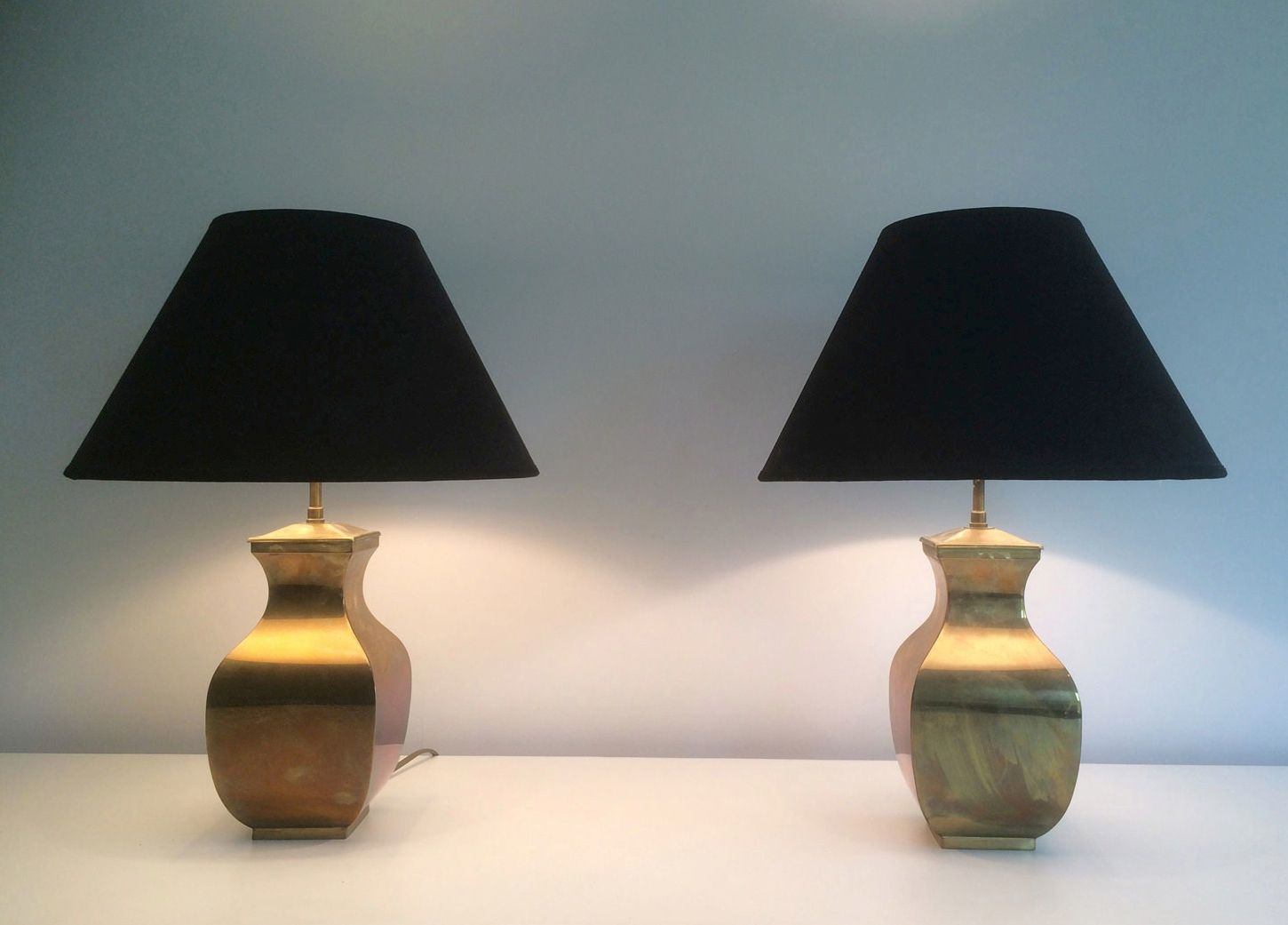 Vintage Brass Table Lamps 1970s Set Of 2 For Sale At Pamono