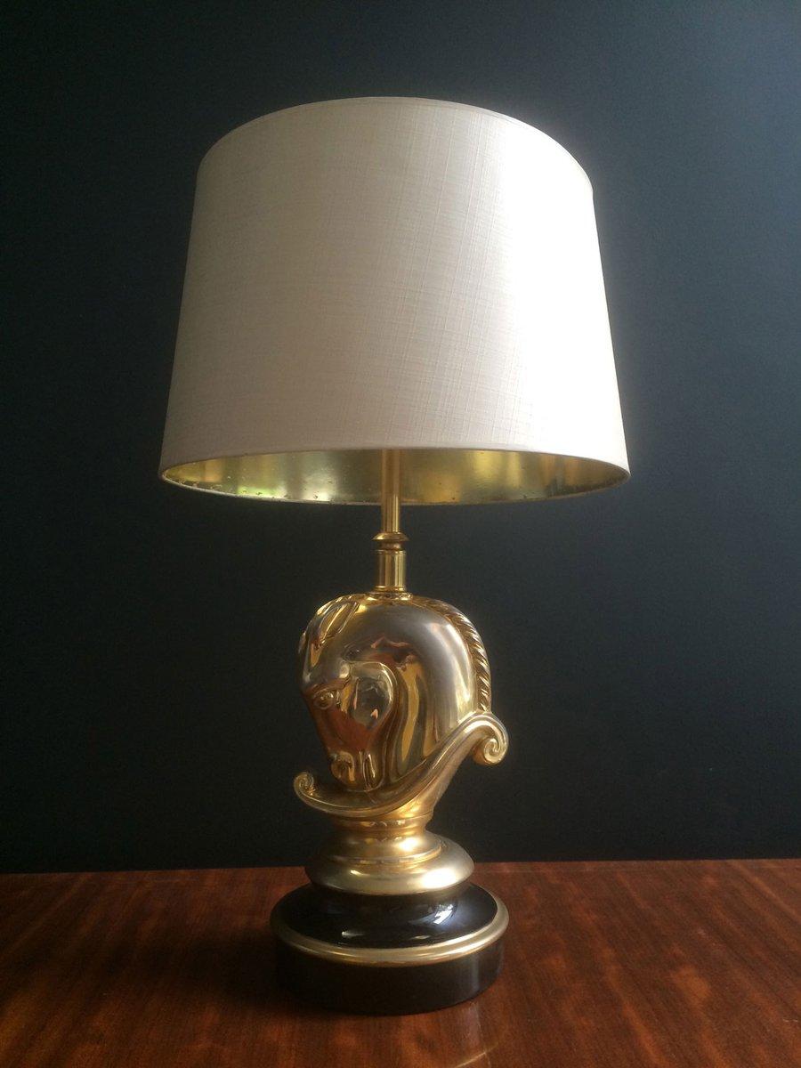 Vergoldete Messing Tischlampe von Maison Charles, 1970er