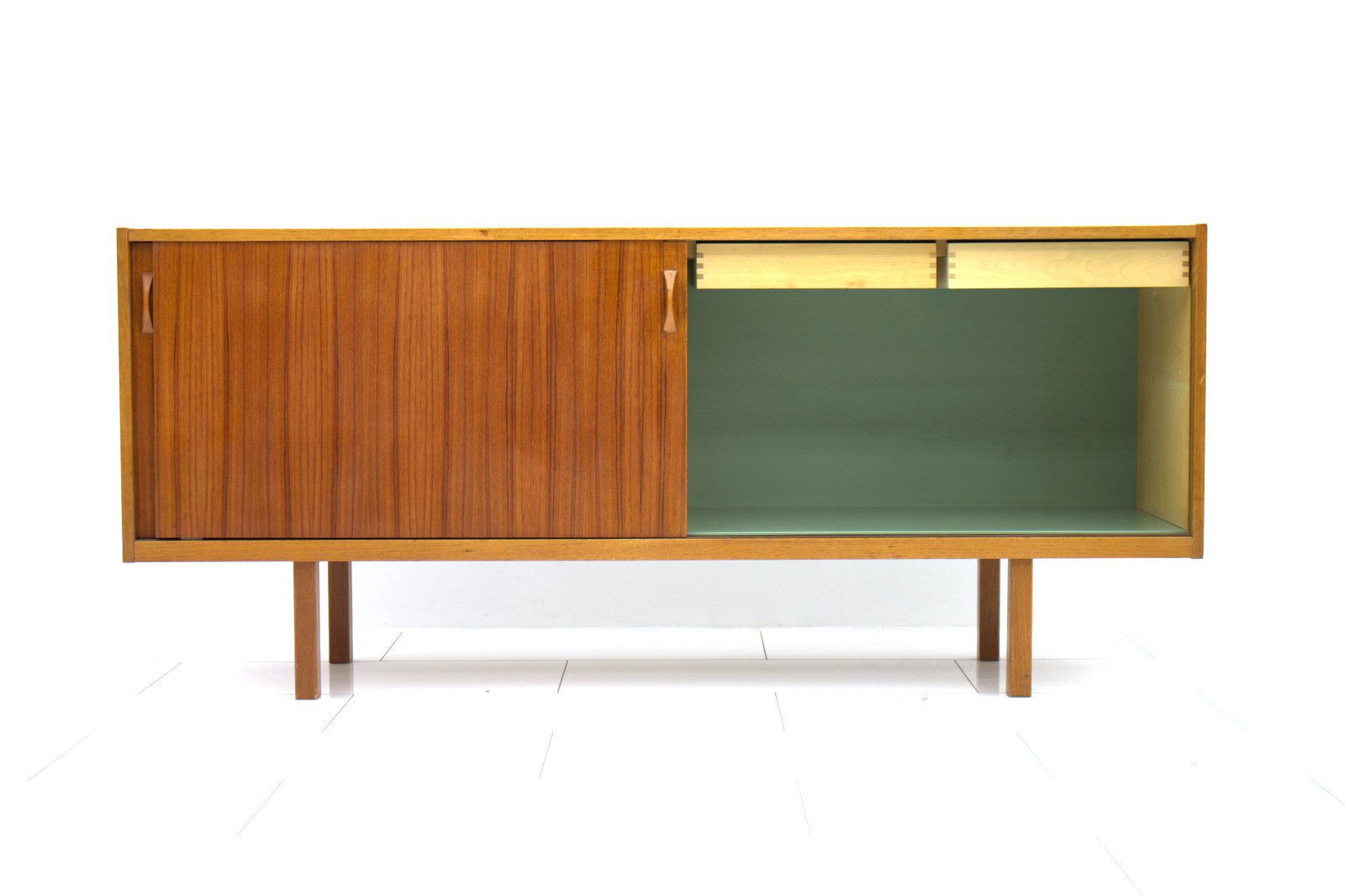 Swedish Teak Sideboard With Sliding Doors 1960s For Sale At Pamono