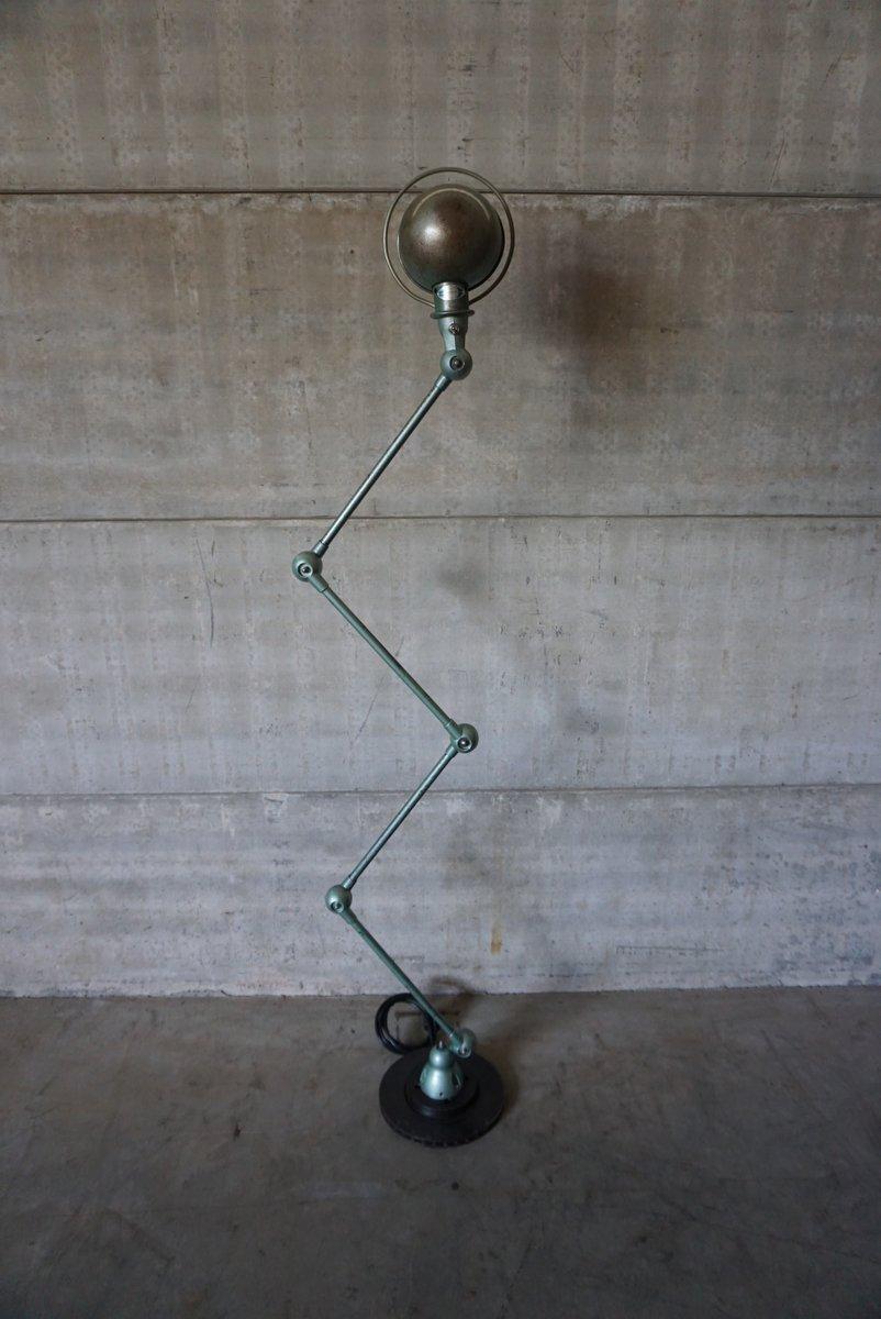 Vierarmige Industrielle Vintage Stehlampe von Jean-Louis Domecq für Ji...