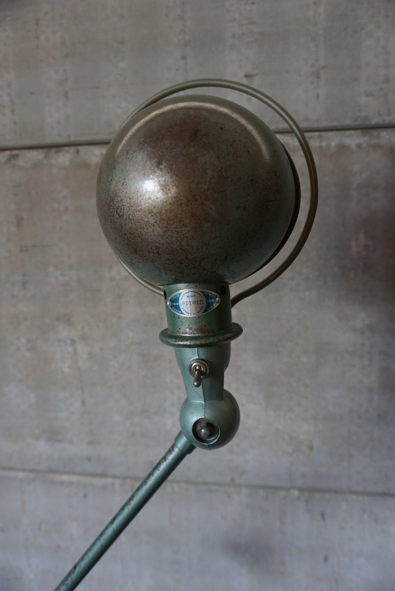 4 Armed Vintage Industrial Floor Lamp By Jean Louis Domecq For