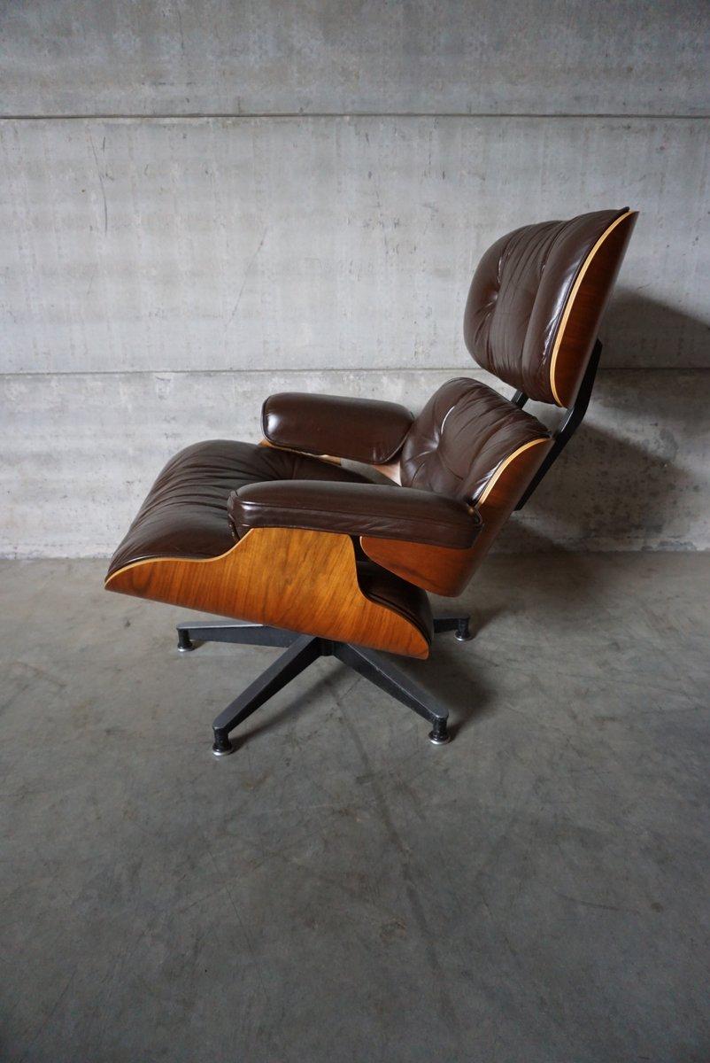 amerikanischer modell 670 lounge sessel aus nussholz aluminium leder von charles und ray. Black Bedroom Furniture Sets. Home Design Ideas