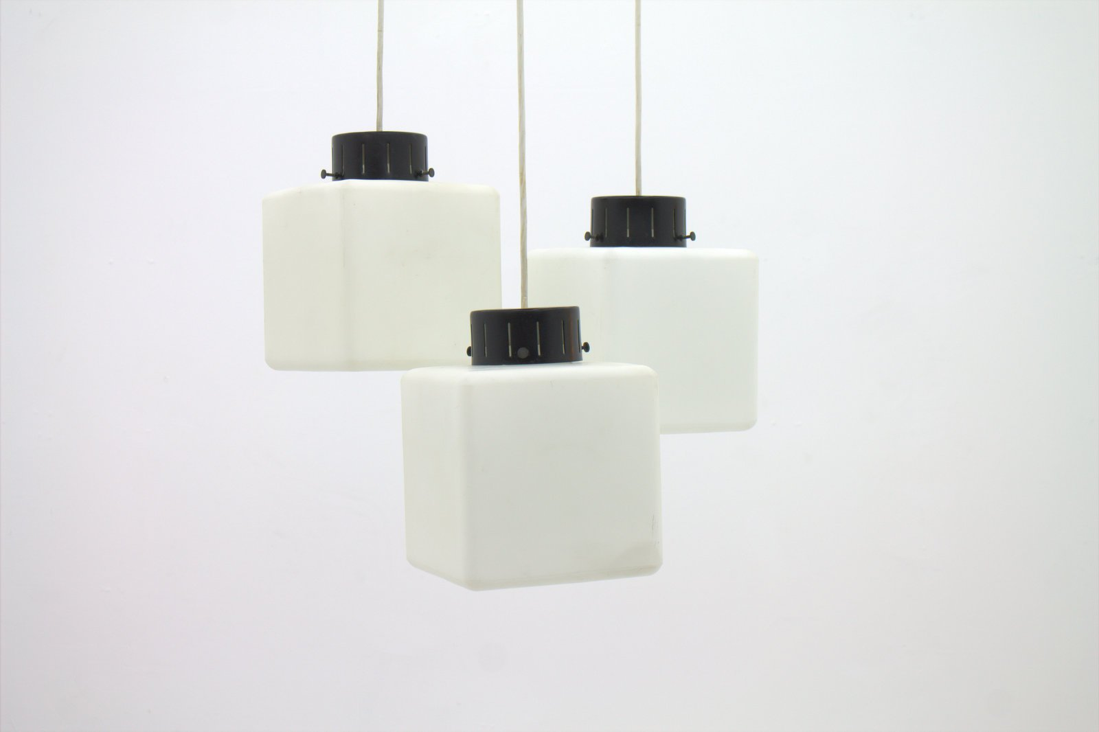 Italian milk glass cube pendant from stilnovo 1960s for sale at pamono italian milk glass cube pendant from stilnovo 1960s mozeypictures Choice Image
