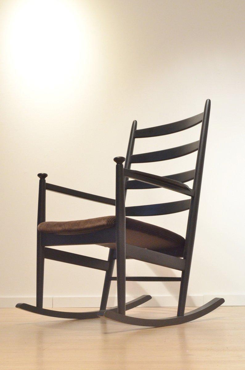 rocking chair mid century en bois par poul m volther pour gemla su de en vente sur pamono. Black Bedroom Furniture Sets. Home Design Ideas