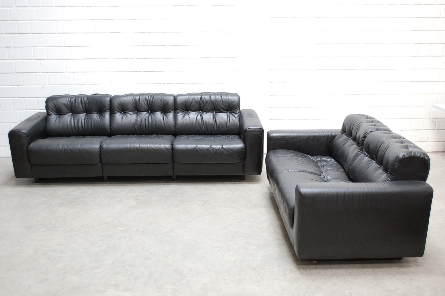 Ds 40 leather living room set from de sede
