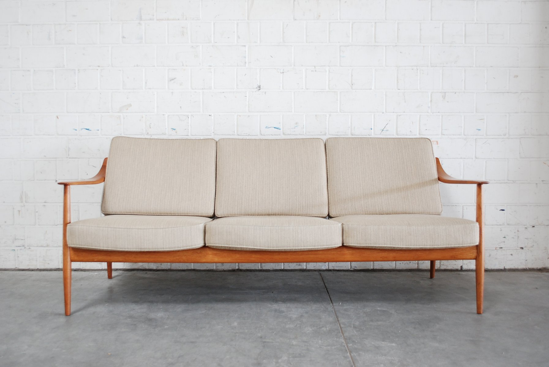 Danish Teak Sofa By Knoll Antimott