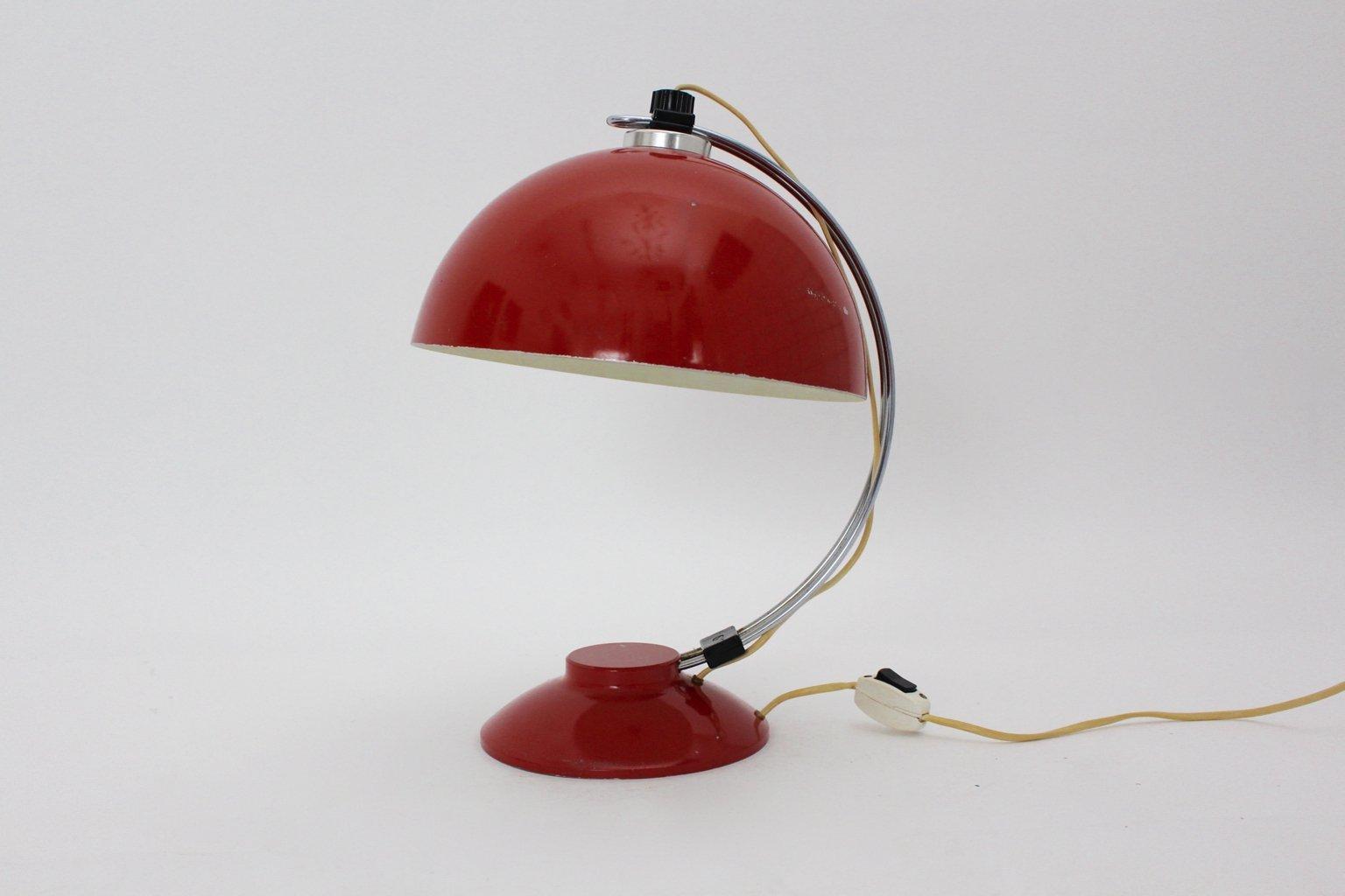 Deutsche Chrom & Aluminium Tischlampe, 1950er