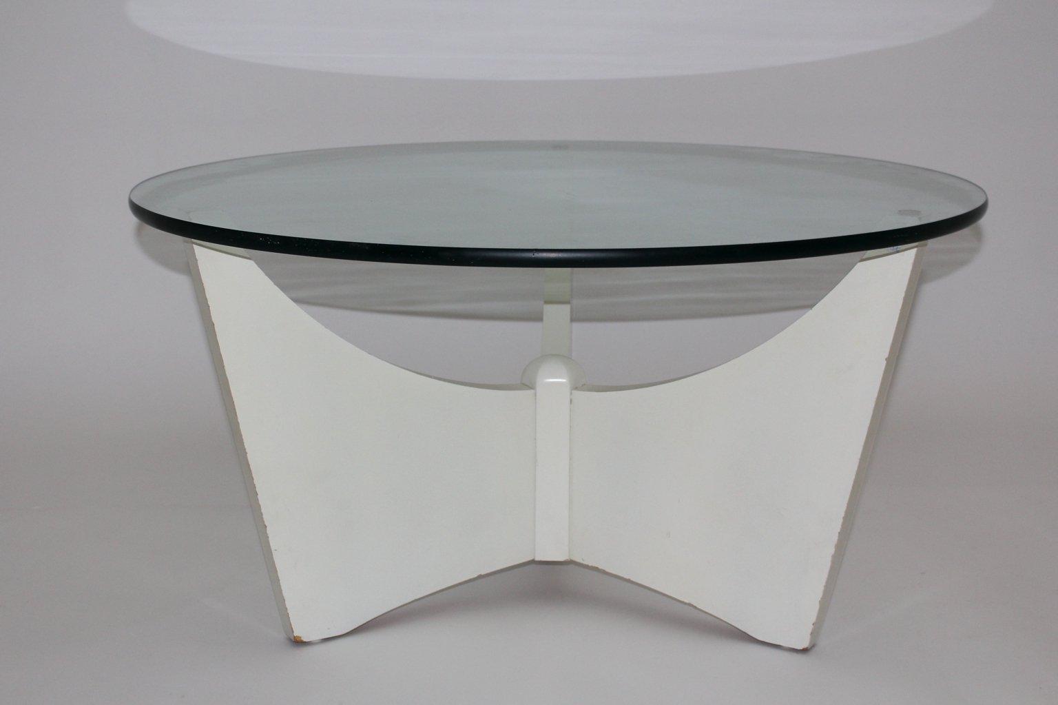 Weißer Couchtisch, 1970er