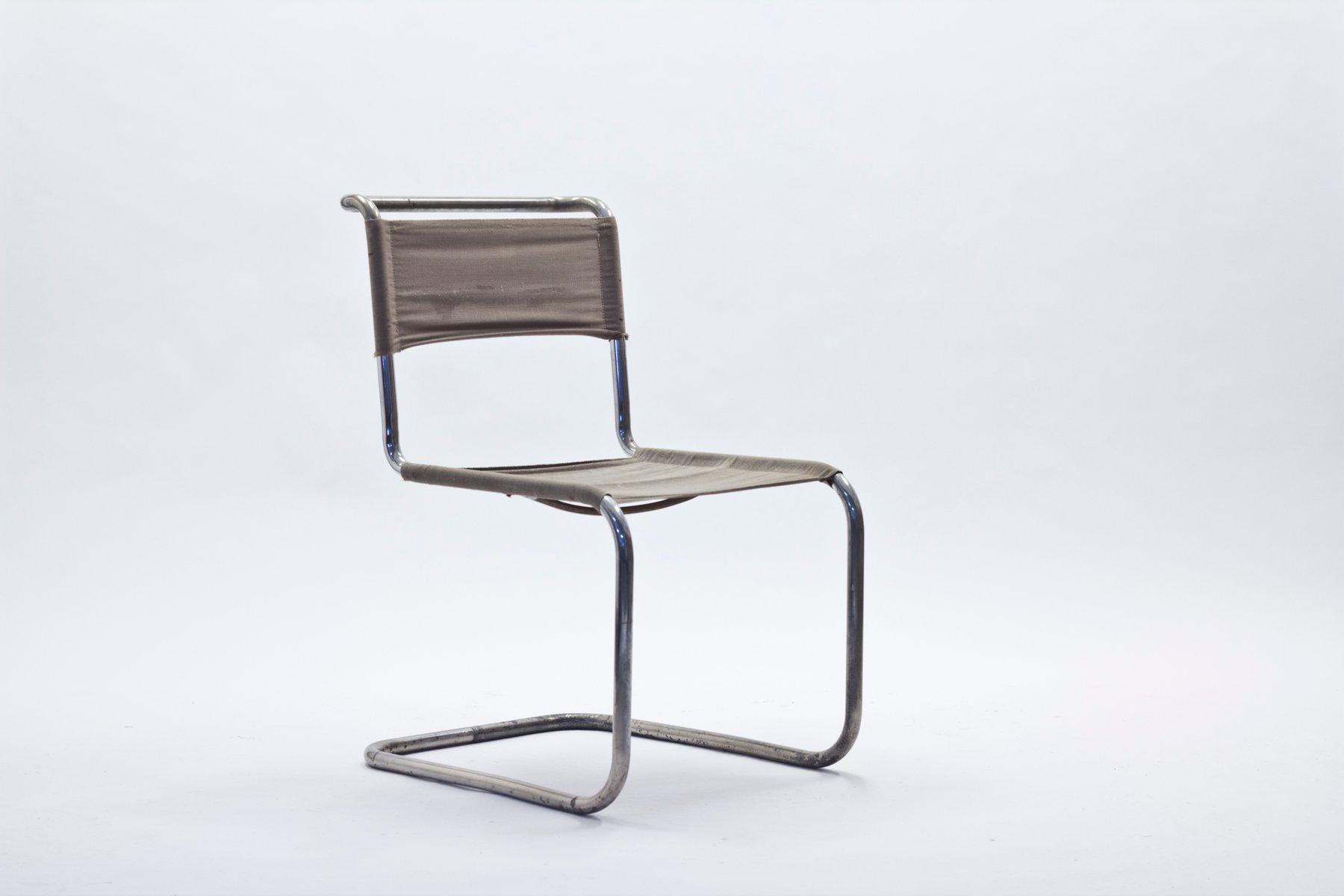 b33 freischwinger von marcel breuer mart stam f r thonet 1930er bei pamono kaufen. Black Bedroom Furniture Sets. Home Design Ideas