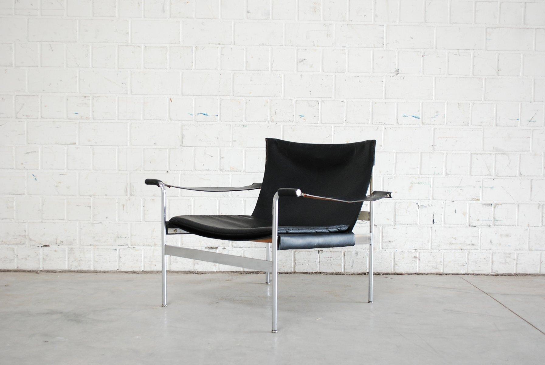 D99 Sessel aus Leder von Hans Könecke für Tecta, 1969