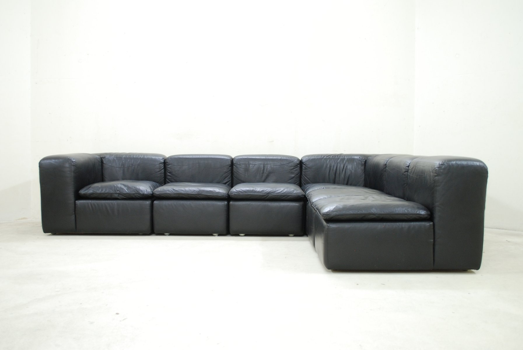Modular Black Cube Design WK 550 Leather Sofa by Ernst Martin ...