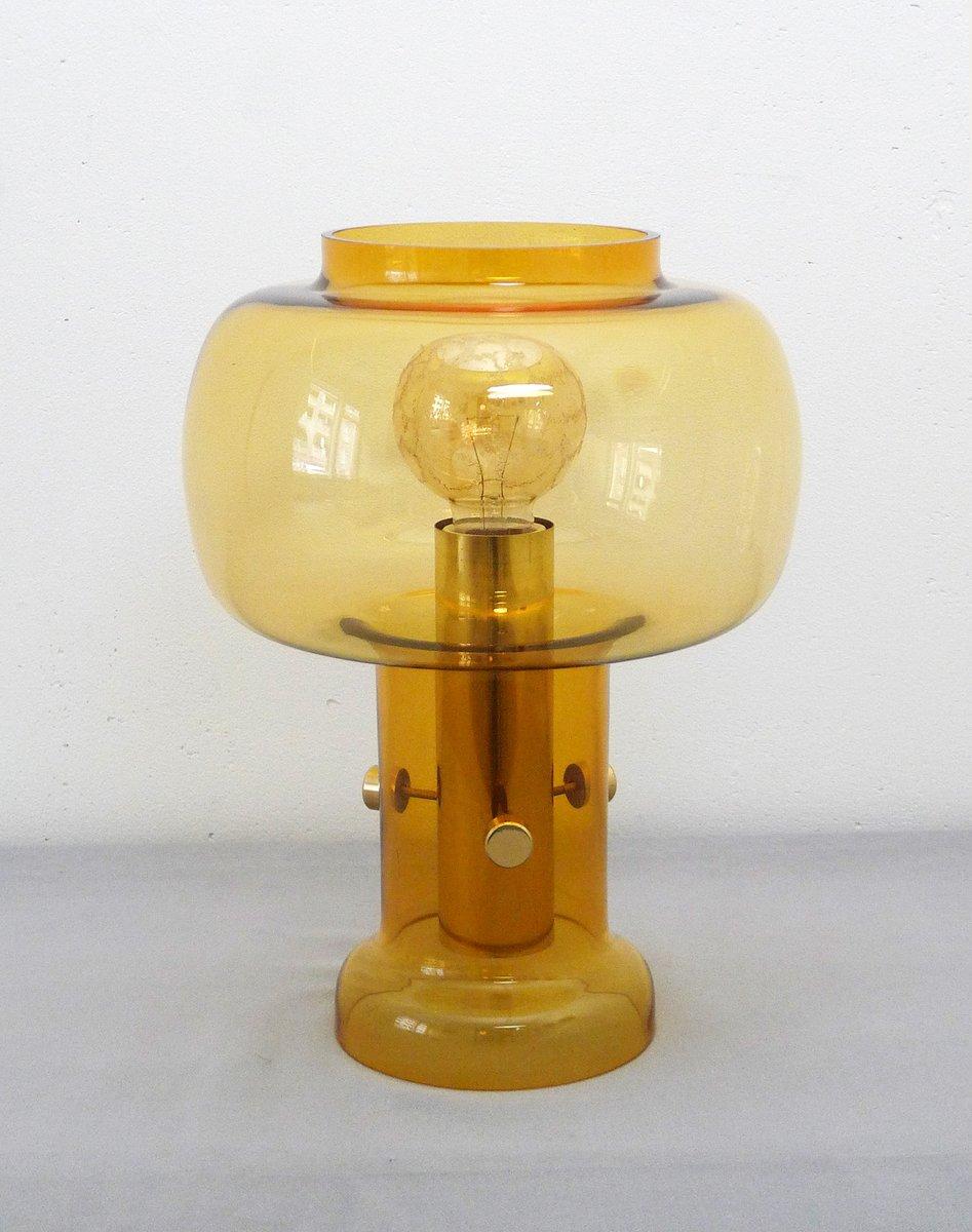 Transparente Vintage Tischlampe aus Glas