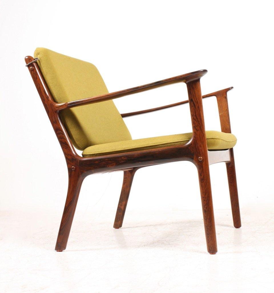 Mid Century OJ112 Palisander Sessel von Ole Wanscher für P