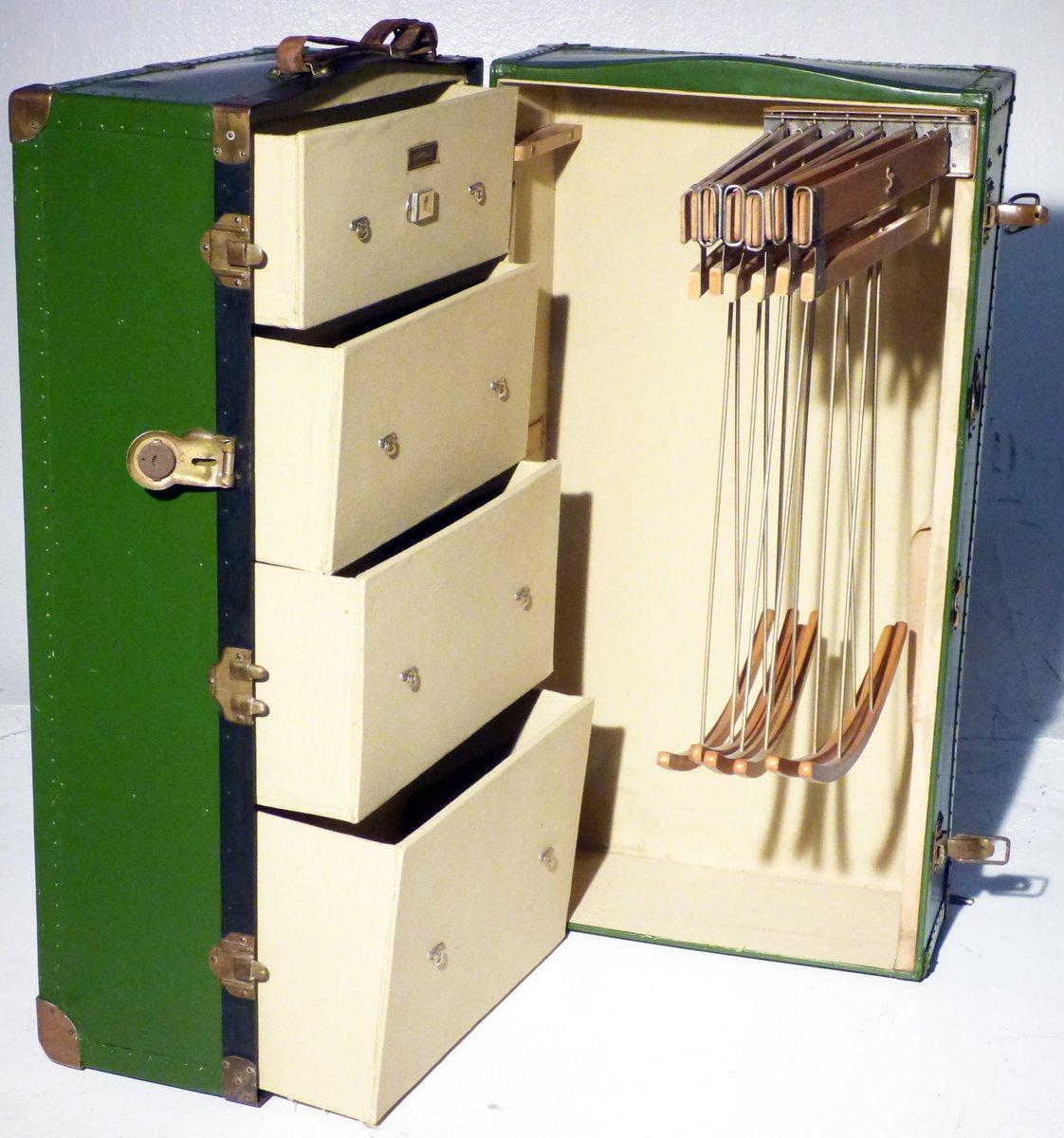 vintage wardrobe trunk from zumpolle 1930s - Wardrobe Trunk