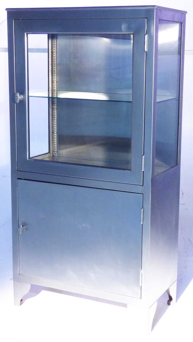 Vintage Stainless Steel Medicine Cabinet for sale at Pamono