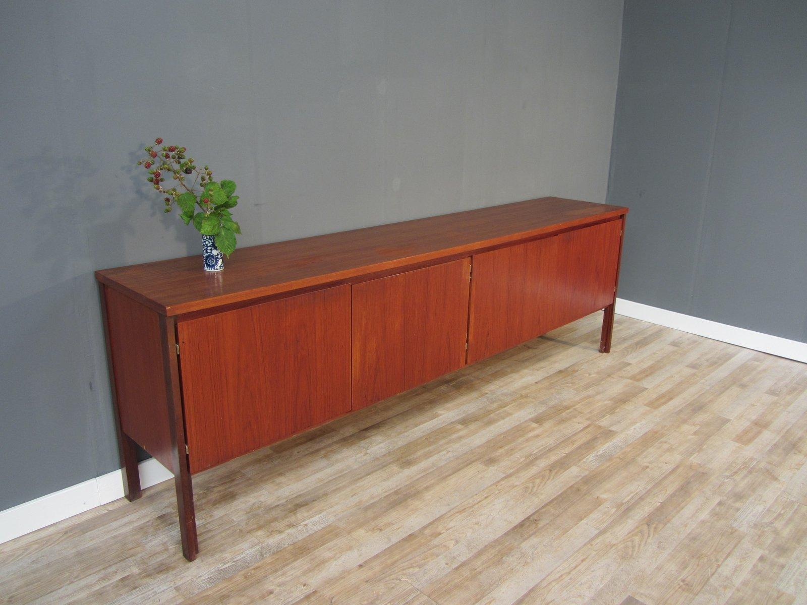 mid century german teak sideboard 1950s for sale at pamono. Black Bedroom Furniture Sets. Home Design Ideas