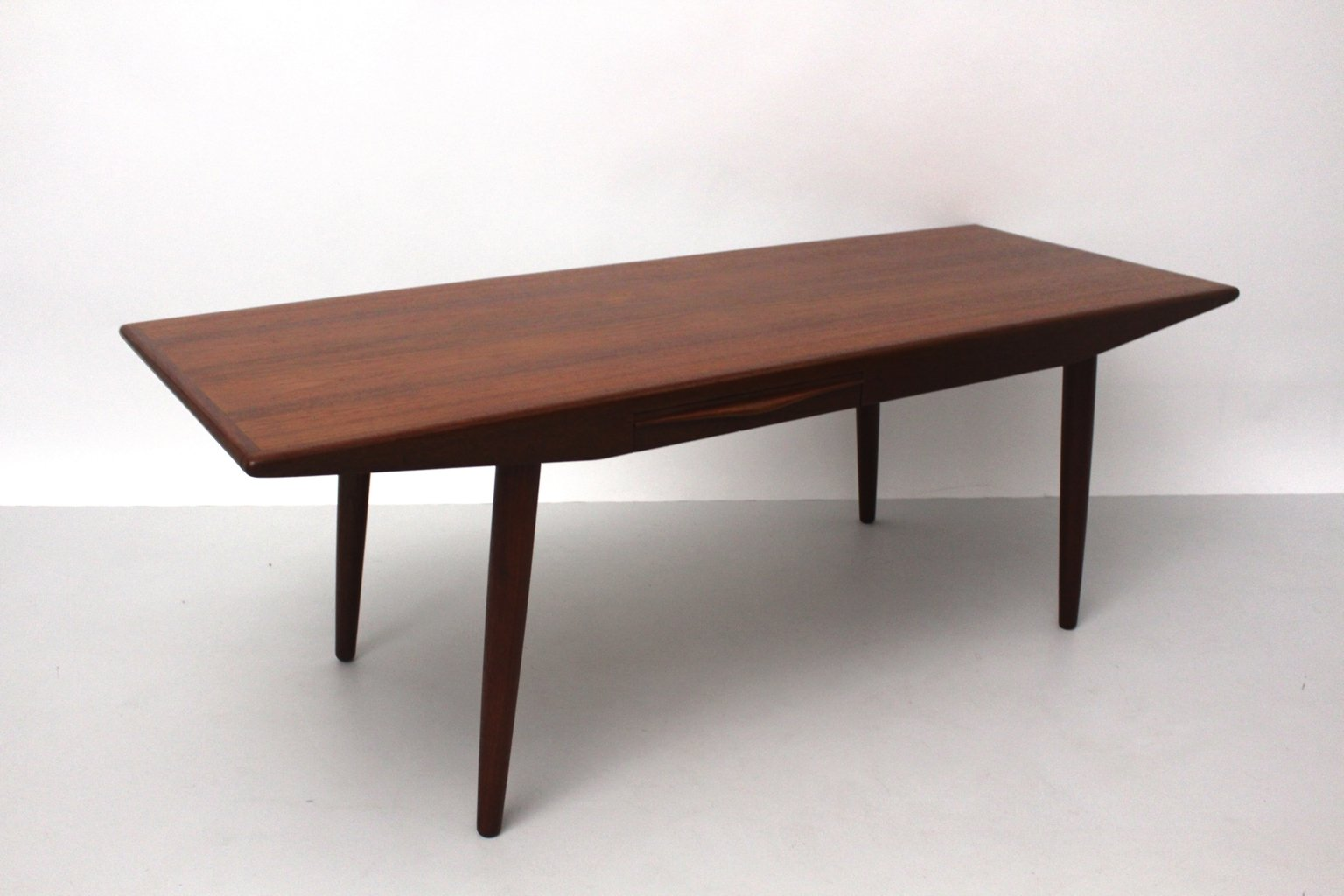 Danish Teak Coffee Table With Drawers By Johannes Andersen 1960s