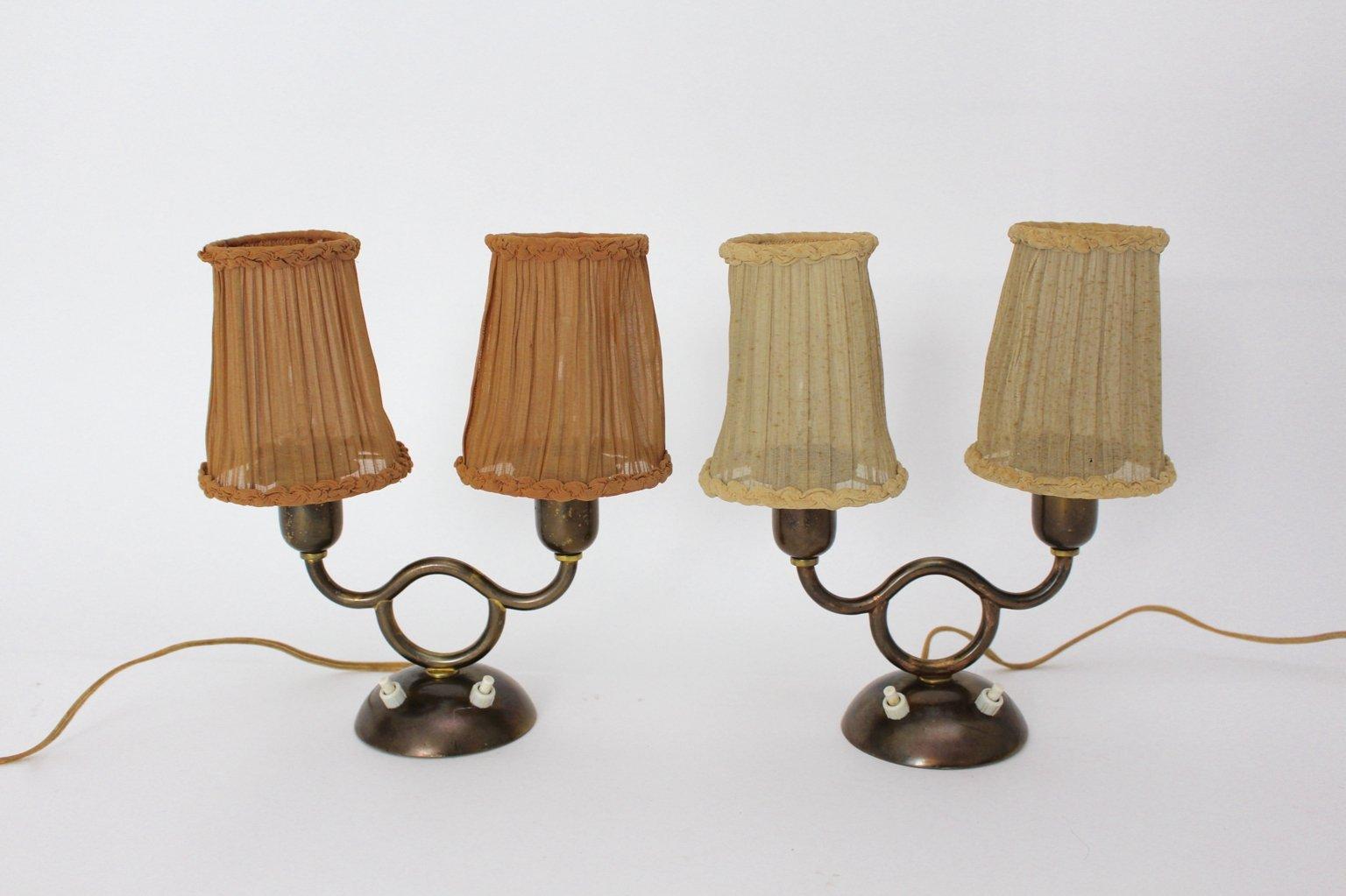 Wiener Tischlampen von Josef Frank, 1930er, 2er Set