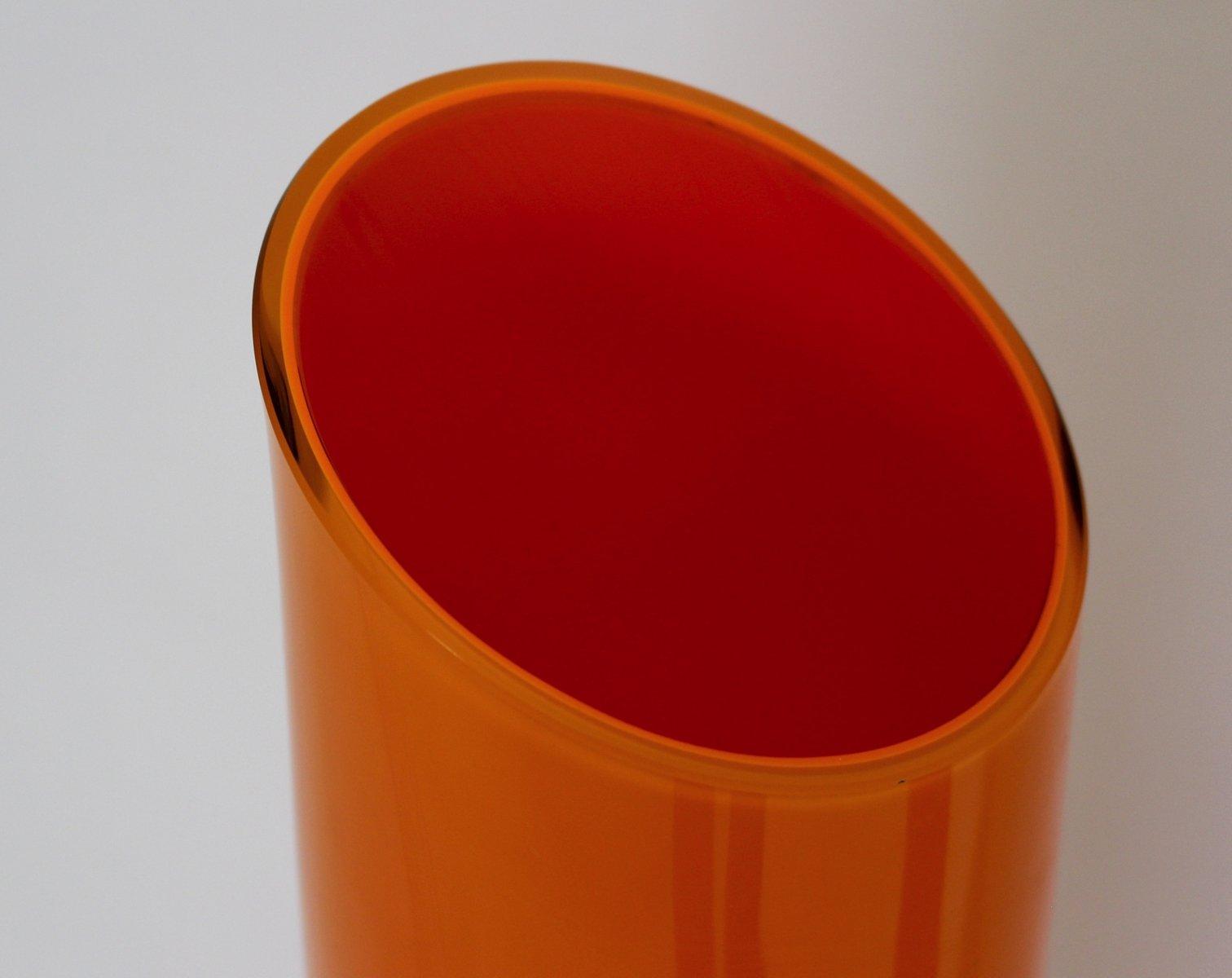 vases orange en verre italie 1970s set de 2 en vente sur pamono. Black Bedroom Furniture Sets. Home Design Ideas