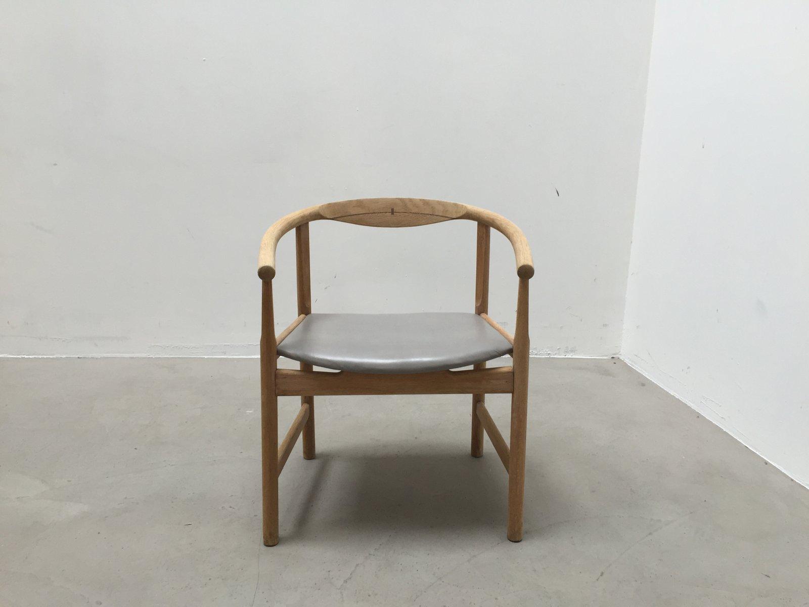 fauteuil vintage par hans j wegner pour johannes hansen. Black Bedroom Furniture Sets. Home Design Ideas