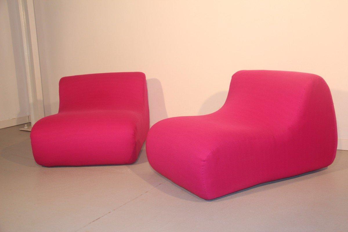 Italienische Lounge Sessel, 1960er, 2er Set
