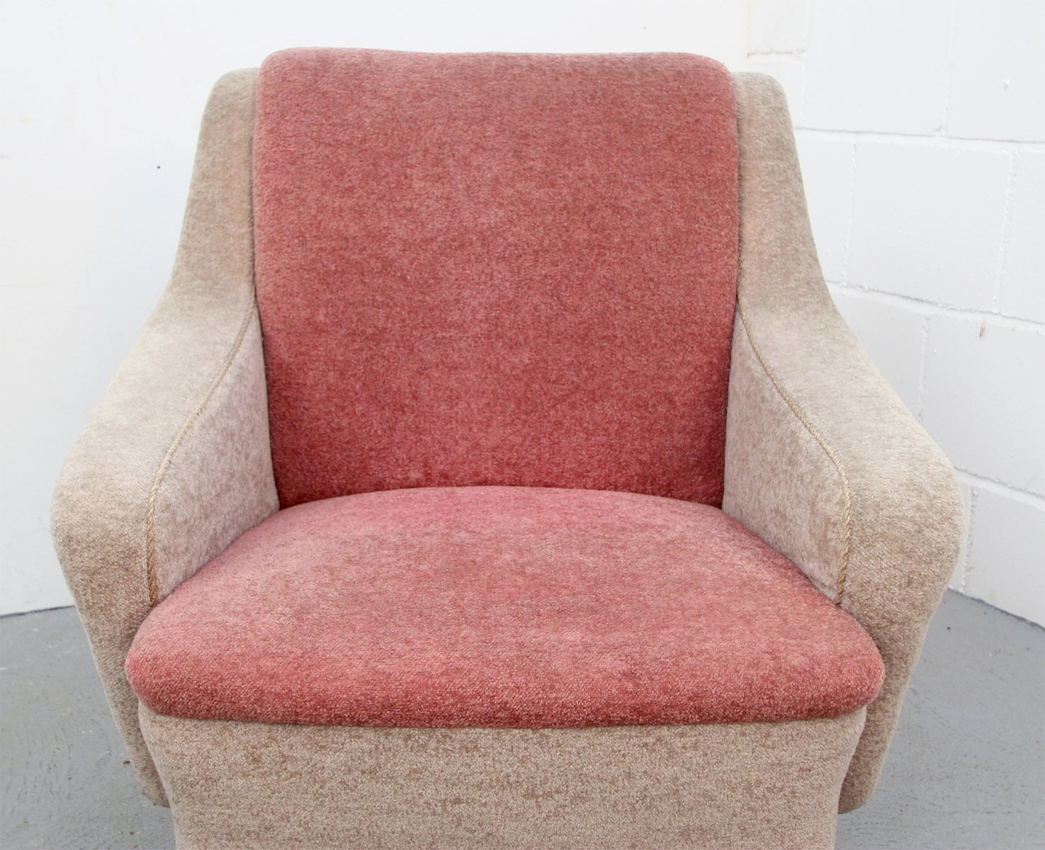 Two-Tone German Pink Armchair, 1950s for sale at Pamono