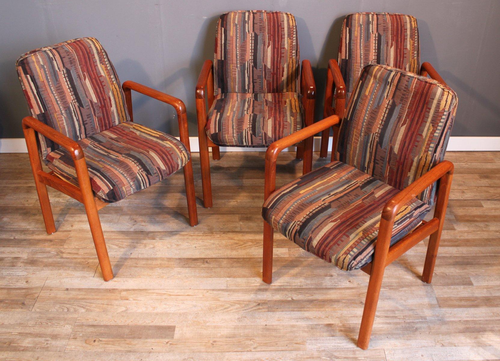 d nische mid century teak esszimmerst hle von dyrlund 4er. Black Bedroom Furniture Sets. Home Design Ideas