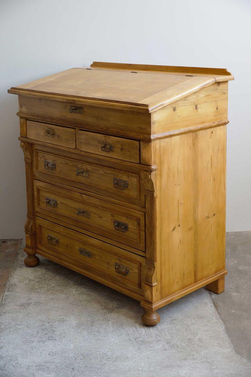 gro e art nouveau kommode mit schreibplatte 1900er bei pamono kaufen. Black Bedroom Furniture Sets. Home Design Ideas