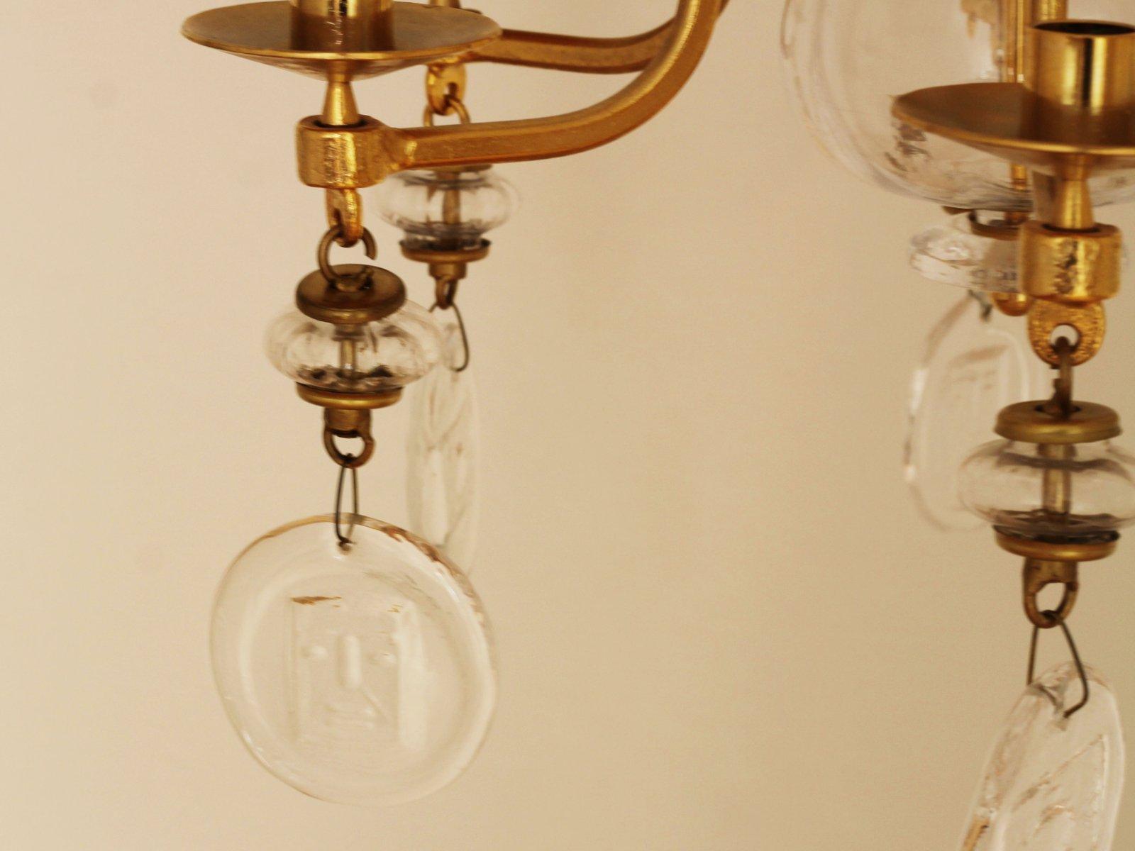 Kronleuchter Eisen Für Kerzen ~ Großer mid century kerzen kronleuchter aus vergoldetem eisen