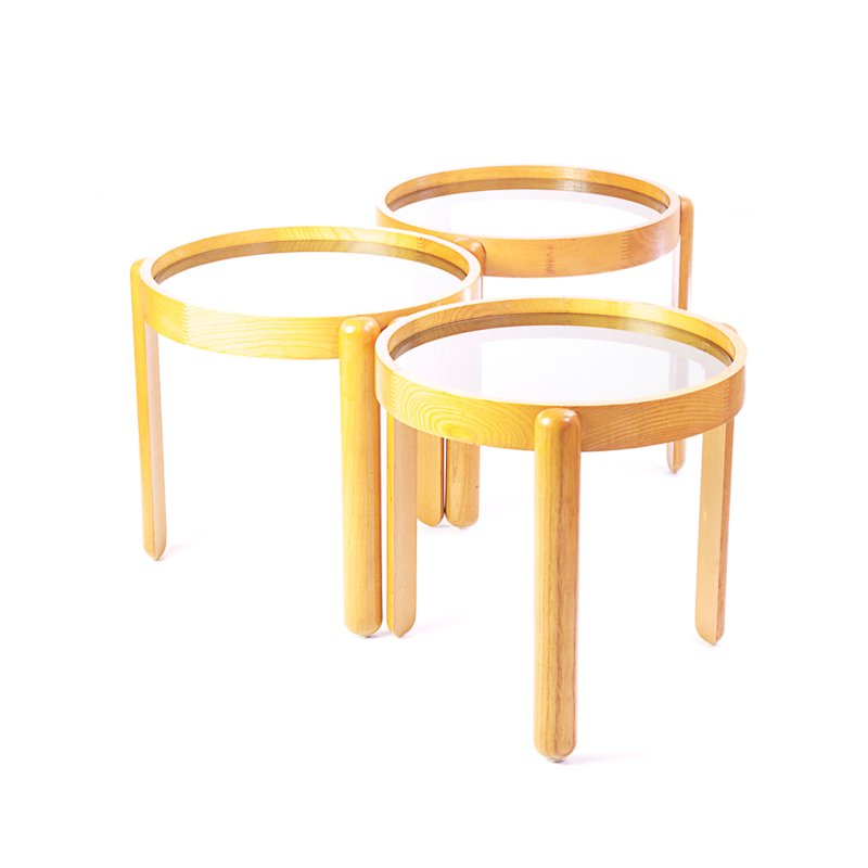 oak nesting tables from porada arredi for sale at pamono On porada arredi