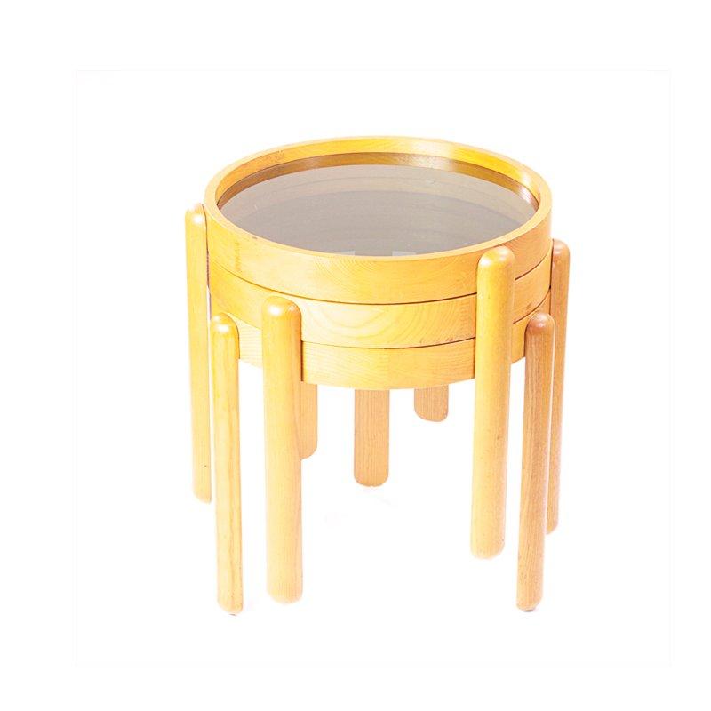 Tables gigognes en ch ne de porada arredi en vente sur pamono for Porada arredi