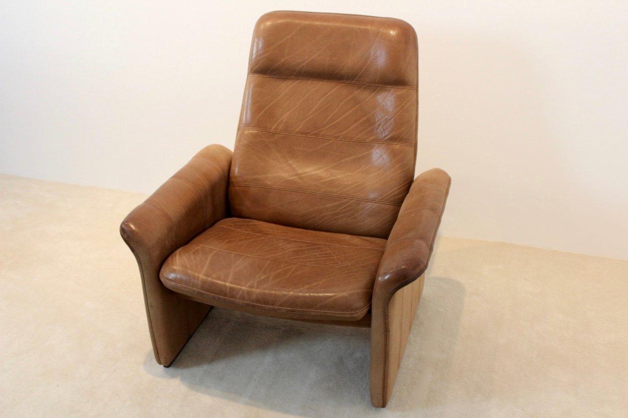 ds 50 sessel aus braunem b ffelleder von de sede 1960er. Black Bedroom Furniture Sets. Home Design Ideas