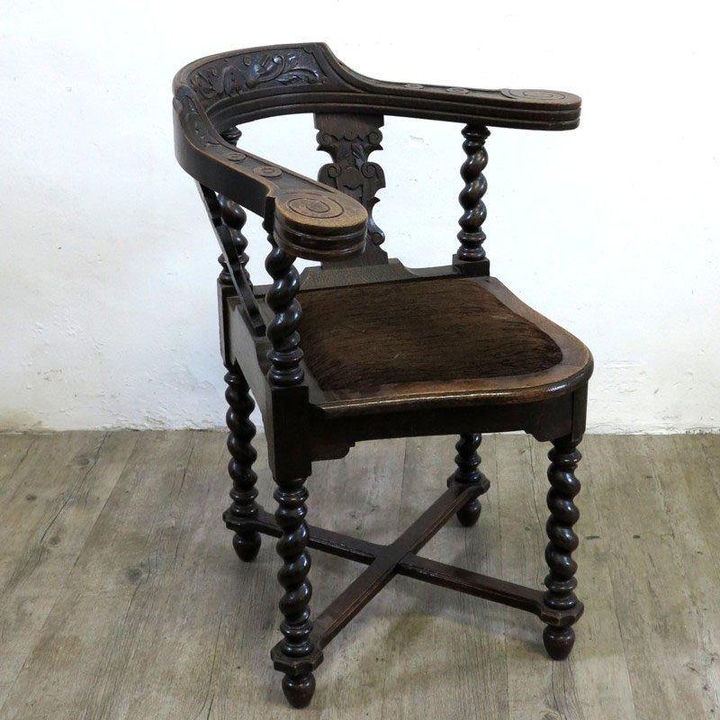 chaise d 39 angle antique gr nderzeit en vente sur pamono. Black Bedroom Furniture Sets. Home Design Ideas