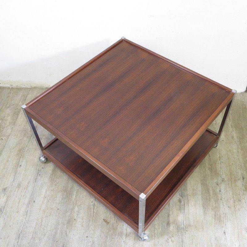 vintage beistelltisch auf rollen bei pamono kaufen. Black Bedroom Furniture Sets. Home Design Ideas