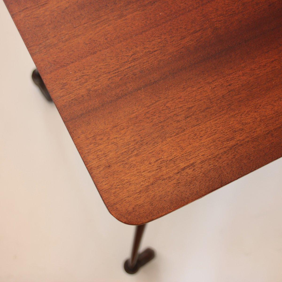 franz sischer teak servierwagen mit ablage 1950er bei pamono kaufen. Black Bedroom Furniture Sets. Home Design Ideas