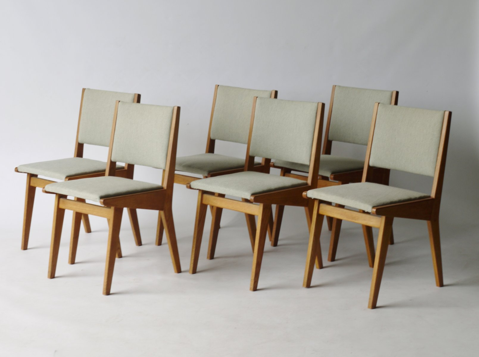 American 666 USP Dining Chairs By Jens Risom For Knoll, 1950s, Set Of 6